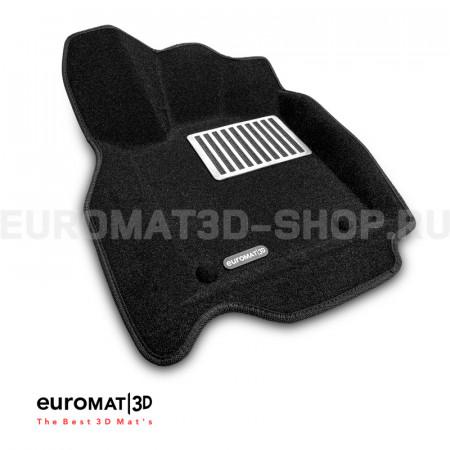 Текстильные 3D коврики Euromat3D Lux в салон для Jeep Grand Cherokee (2010-) № EM3D-002760