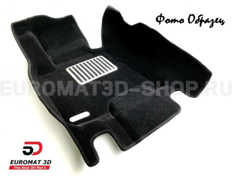 Текстильные 5D коврики с высоким бортом Euromat3D в салон для Bmw X6 (E71) (2008-2014) № EM5D-001212