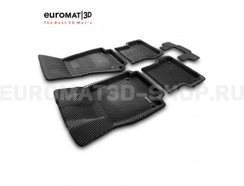 3D коврики Euromat3D EVA в салон для Audi A6 (2011-2018) № EM3DEVA-001107