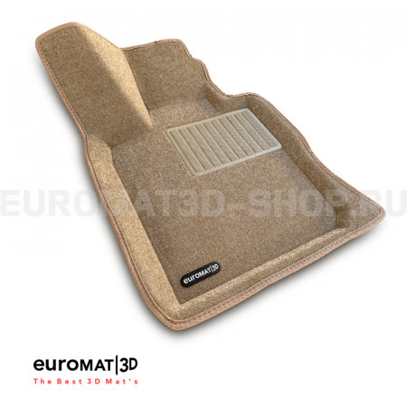 Текстильные 3D коврики Euromat3D Business в салон для Bmw 6 GT (G32) (2017-) № EMC3D-001207T Бежевые