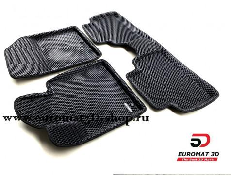 3D коврики Euromat3D EVA в салон для Hyundai Santa Fe (2018-) № EM3DEVA-002704