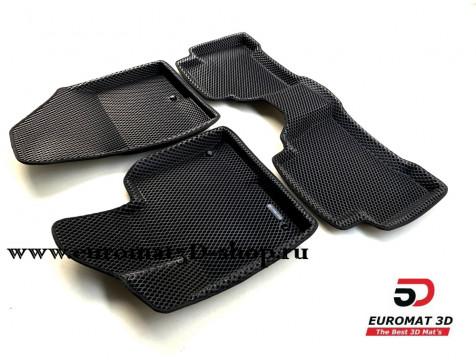 3D коврики Euromat3D EVA в салон для Hyundai Santa Fe (2013-2017) № EM3DEVA-002723