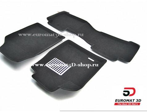 Текстильные 3D коврики Euromat3D Lux в салон для Acura MDX (2006-2014) № EM3D-000001
