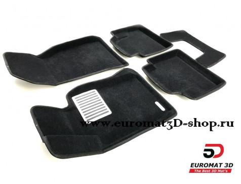 Текстильные 3D коврики Euromat3D Lux в салон для Bmw 4 (F32/33) (2012-) № EM3D-001221